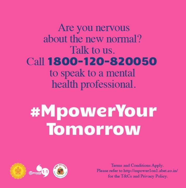 Mental helpline number- speak to a mental health professional
