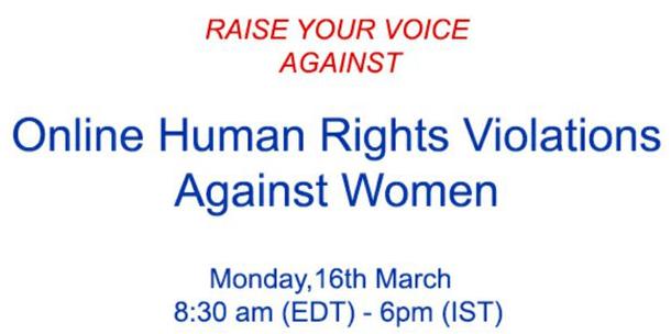 Csr Tweetchat- online human right violation agaoinst women